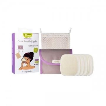 Kit Eco Belle mini - 7 carrés lavables pour les déplacements -coton bio - Les Tendances d'Emma