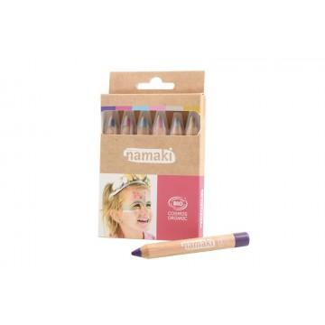 Kit 6 crayons de maquillage -Arc-en-Ciel- Namaki