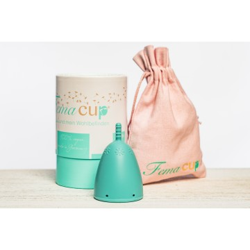 FemaCup® menstrual cup turquoise