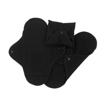 Imse Vimse protège slip en coton bio 3 pcs  - Noir