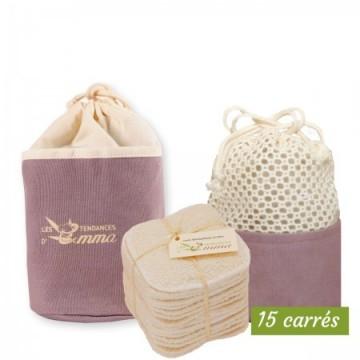 Kit Eco belle Trousse (15 carrés démaquillants)