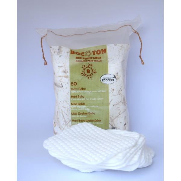 Bocoton 60 serviettes maxi bébé bio et Fair Trade